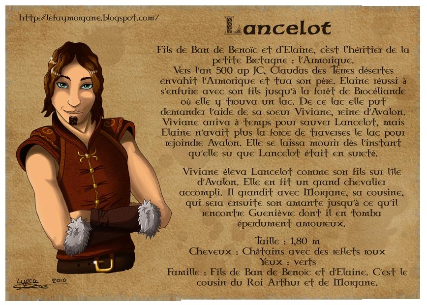 Dessin biographie de lancelot lyxa graphisme - Le roi arthur et les chevaliers de la table ronde ...
