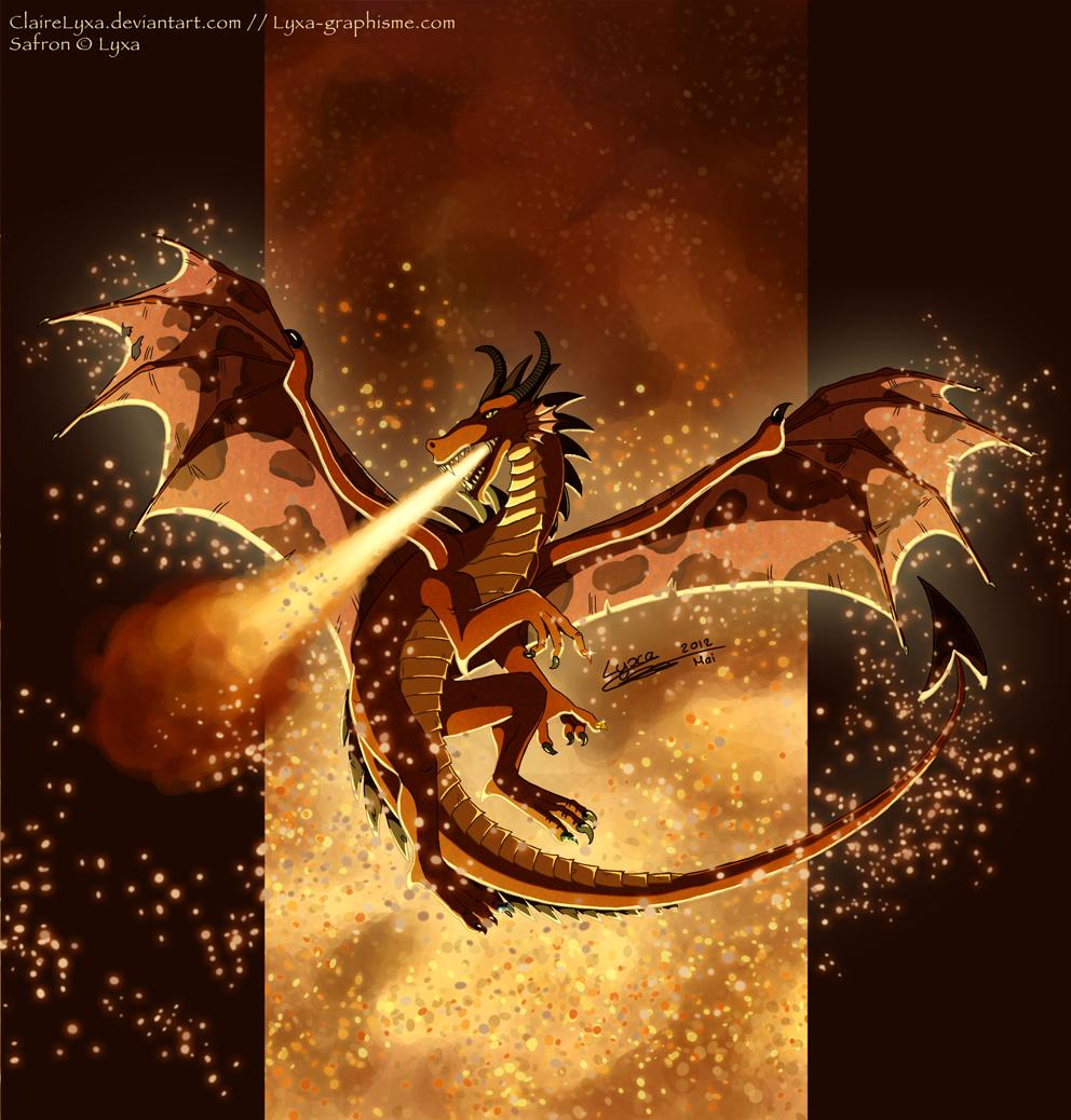 Dessin safron le dragon des l ments lyxa graphisme - Dessin dragon couleur ...