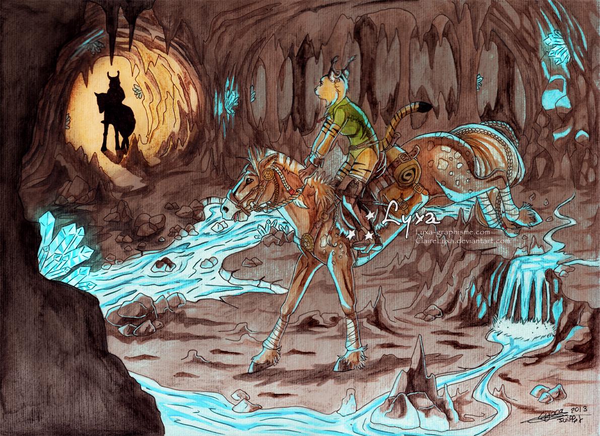 Dessin grottes de cristal lyxa graphisme - Coloriage grotte ...