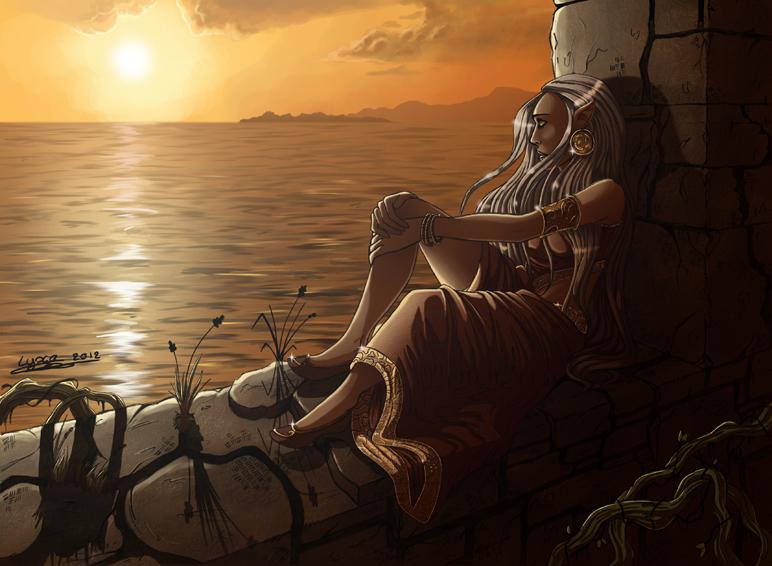 Dessin we na sous un coucher de soleil lyxa graphisme - Dessin coucher de soleil ...
