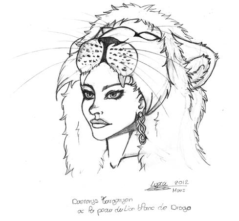 Dessin le lion blanc de daenerys lyxa graphisme - Lion a dessiner ...
