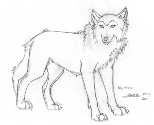 Dessin nym ria louve stark lyxa graphisme - Dessin loup facile ...